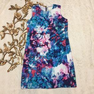 Cynthia Rowley Multi Color Watercolor Silk Dress 4